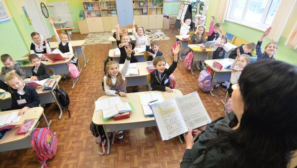 На занятках у школе, архіўнае фота - Sputnik Беларусь