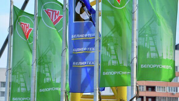 Флаги на заправке Белоруснефть - Sputnik Беларусь