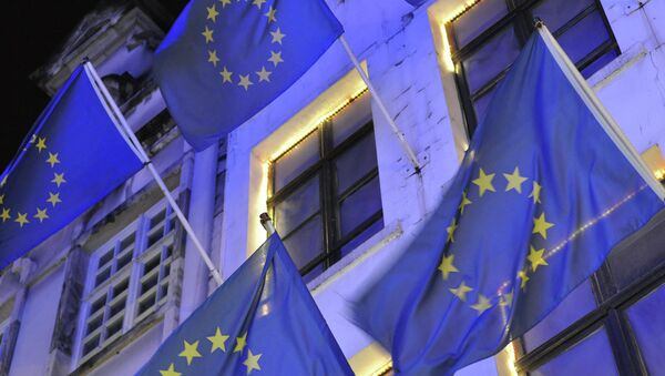 Флаги ЕС в Брюсселе - Sputnik Беларусь