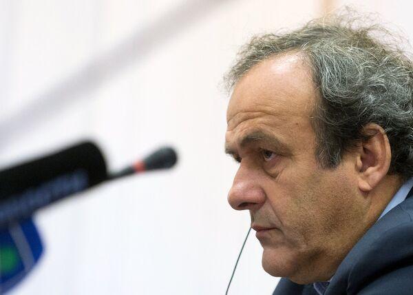 Президент Союза европейских футбольных ассоциаций (УЕФА) Мишель Платини - Sputnik Беларусь
