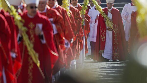 Вербное воскресенье на площади Святого Петра - Sputnik Беларусь