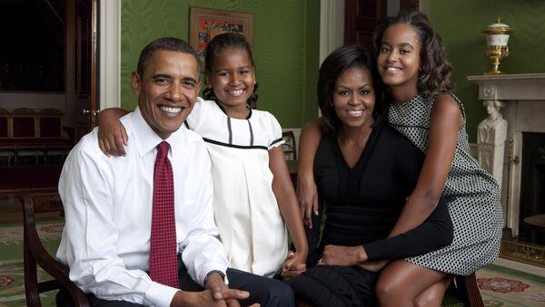 Семья президента США Барака Обамы - Sputnik Беларусь