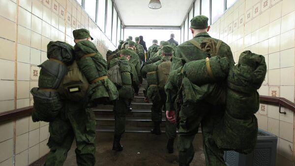 Адпраўка навабранцаў у войска - Sputnik Беларусь