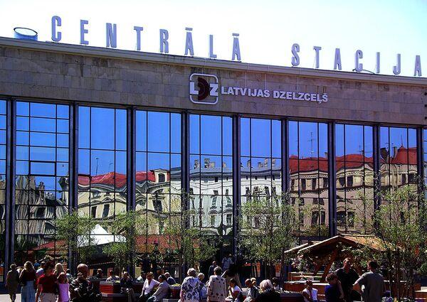 Центральный вокзал в Риге, архивное фото - Sputnik Беларусь