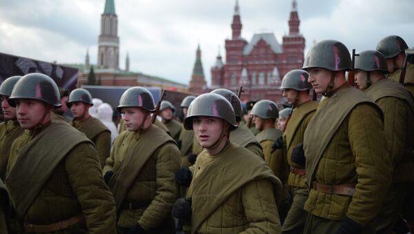 Репетиция торжественного марша на Красной площади в Москве - Sputnik Беларусь