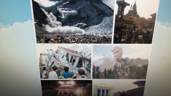 Фото землетрясения в Непале пользователей в Twitter - Sputnik Беларусь