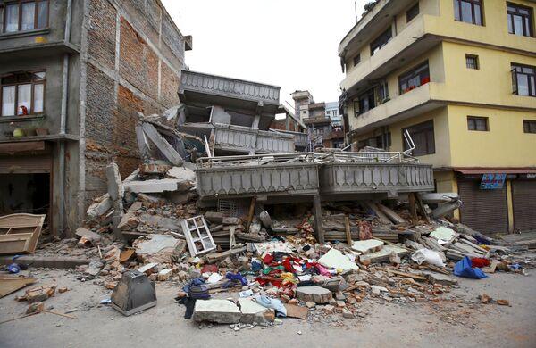 Столица Непала - Катманду - после землетрясения - Sputnik Беларусь