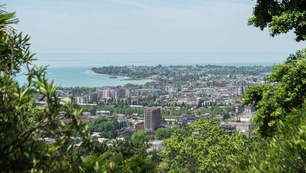 Сухум. Вид из центре города на побережье - Sputnik Беларусь