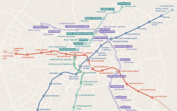 Назвы для новых станцый метро - Sputnik Беларусь