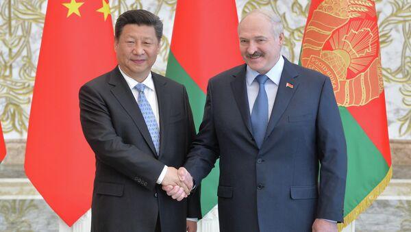Прэзідэнт Беларусі Аляксандр Лукашэнка і старшыня КНР Сі Цзіньпін - Sputnik Беларусь