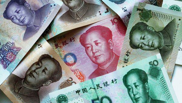 Китайские денежные купюры-юани - Sputnik Беларусь