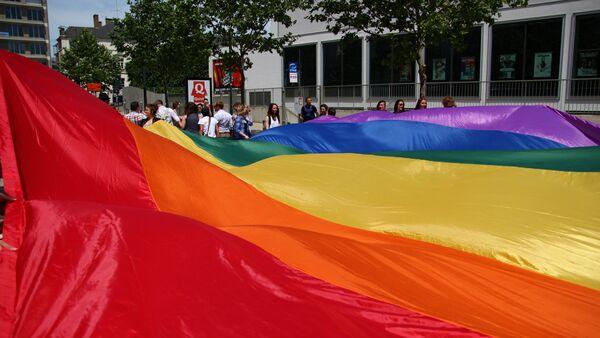 Активисты ЛГБТ-движения в Ренне. Архивное фото - Sputnik Беларусь