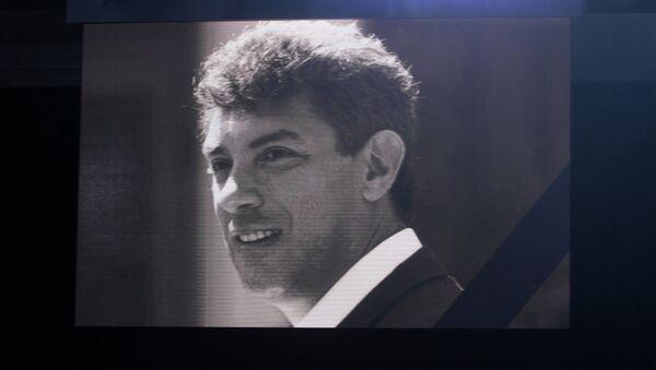 Траурный портрет Бориса Немцова - Sputnik Беларусь