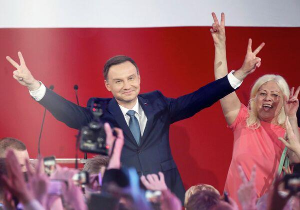 Анджей Дуда перамог на польскіх прэзідэнцкіх выбарах - Sputnik Беларусь