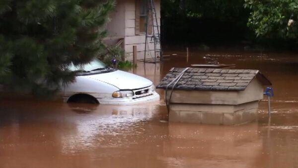 СПУТНИК_Затопленные дома и дороги – последствия наводнения в США после мощных ливней - Sputnik Беларусь