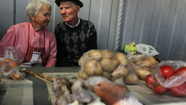 Продаж гародніны пенсіянерамі - Sputnik Беларусь