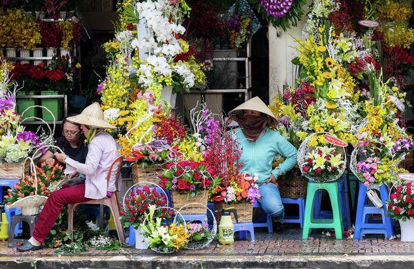 Цветочный магазин на одной из улиц Хошимина (Вьетнам) - Sputnik Беларусь