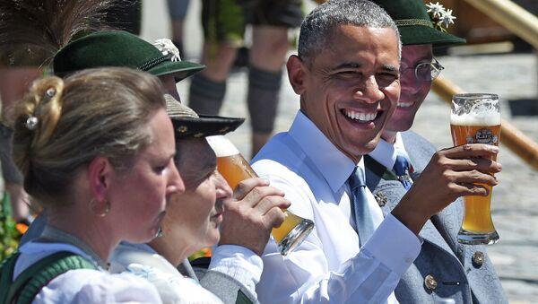Президент США Барак Обама во время посещения Германии - Sputnik Беларусь