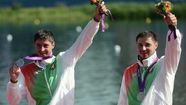 Спортсмены из Беларуси Андрей и Александр Богдановичи на Олимпийских играх 2012 года в Лондоне. - Sputnik Беларусь