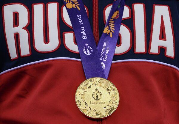 Залаты медаль гульняў у Баку - Sputnik Беларусь