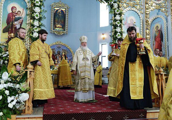 Патриарх Кирилл в соборе в Бресте - Sputnik Беларусь