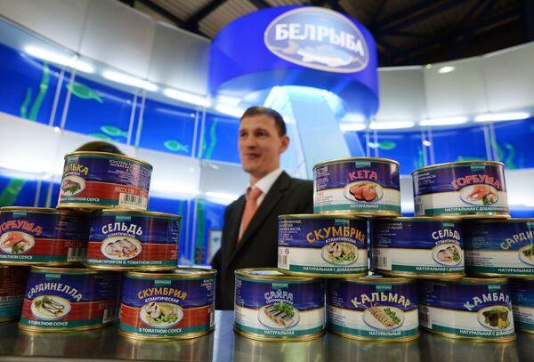 Стенд белорусского поставщика рыбной продукци Белрыба на 23-й Международной выставке продуктов питания и напитков World Food Moscow - Sputnik Беларусь