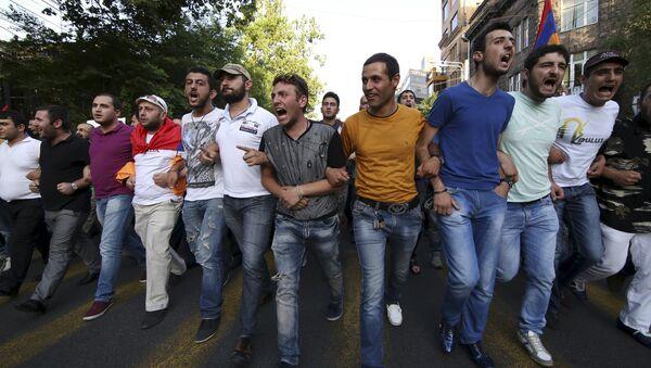 Акция протеста в Ереване - Sputnik Беларусь