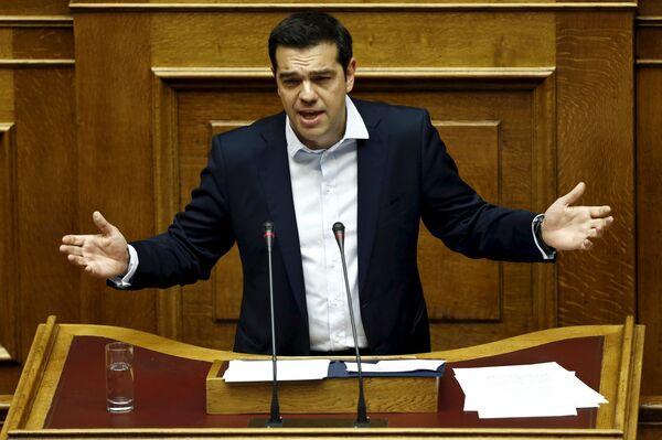 Премьер-министр Греции Алексис Ципрас - Sputnik Беларусь