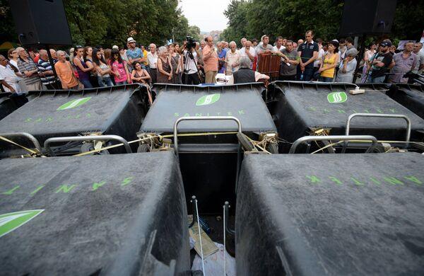Протестные акции в Ереване - Sputnik Беларусь