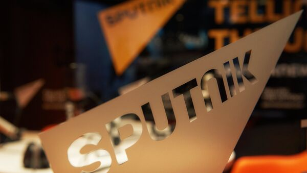 Павільён міжнароднага інфармацыйнага брэнда Sputnik - Sputnik Беларусь