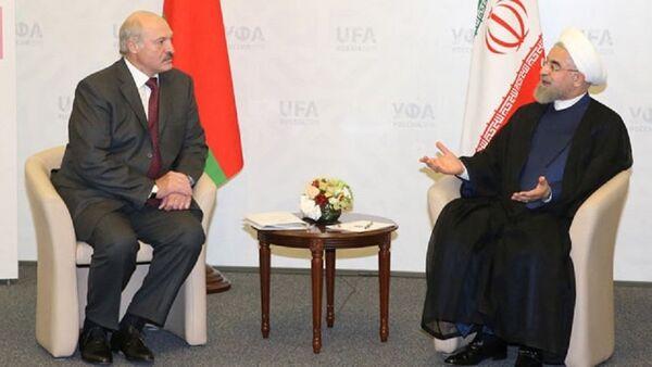 Президенты Беларуси и Ирана на встрече в Уфе - Sputnik Беларусь