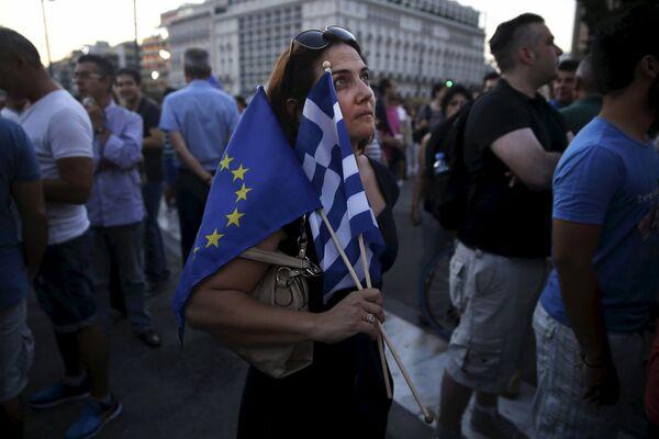Митинг перед зданием греческого парламента в Афинах - Sputnik Беларусь