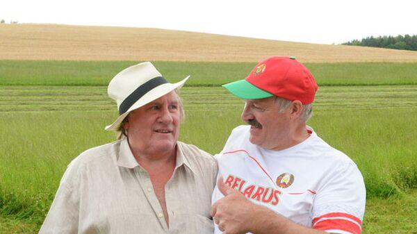 Жерар Депардье и Александр Лукашенко - Sputnik Беларусь