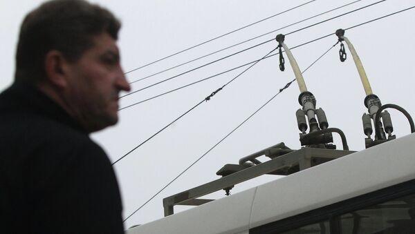 Контактные провода троллейбуса - Sputnik Беларусь