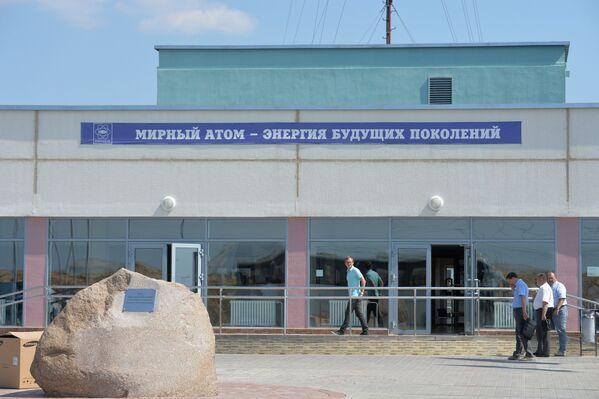 Столовая строящейся Белорусской АЭС, возле города Островец в Гродненской области - Sputnik Беларусь