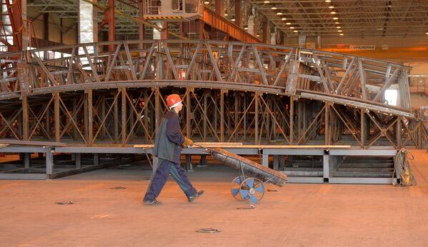 Комплекс специализированных металлических конструкций строящейся Белорусской АЭС - Sputnik Беларусь
