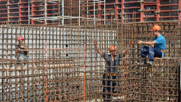 Строительство реакторного блока №1 Белорусской АЭС - Sputnik Беларусь