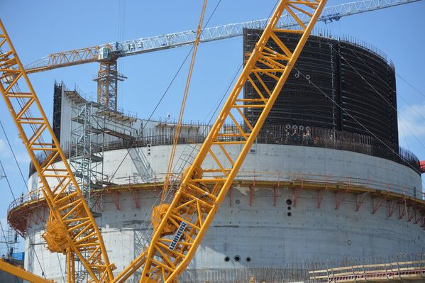 Строительство реакторного блока №1 БелАЭС - Sputnik Беларусь