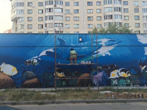 Станция УП Минскводоканал, над которой работают райтеры из компании Art&Shock - Sputnik Беларусь