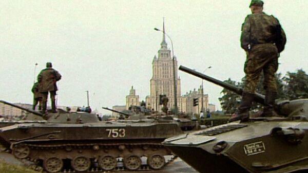 Жнівеньскі путч у Маскве. Здымкі 1991 года - Sputnik Беларусь