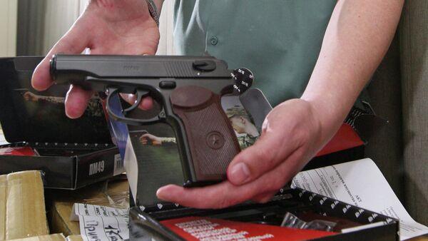 Пневматический пистолет. Архивное фото - Sputnik Беларусь