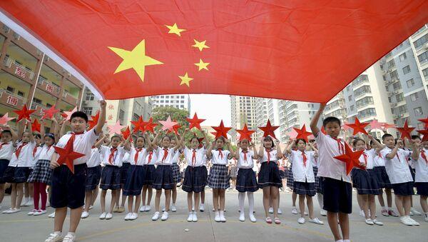 Дети - участники парада 70-летней годовщины победы в Китае - Sputnik Беларусь