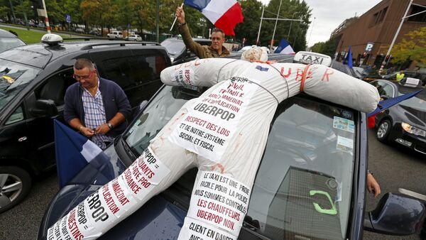 Забастовка таксистов в Бельгии - Sputnik Беларусь