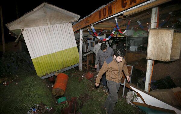 Наступствы землятруса ў Чылі - Sputnik Беларусь