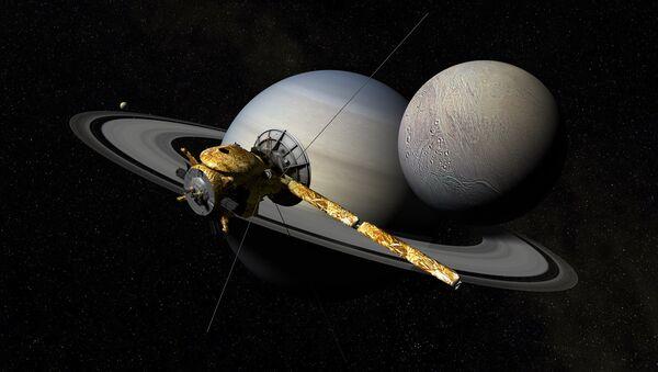 Кассини, Сатурн и Энцелад - Sputnik Беларусь