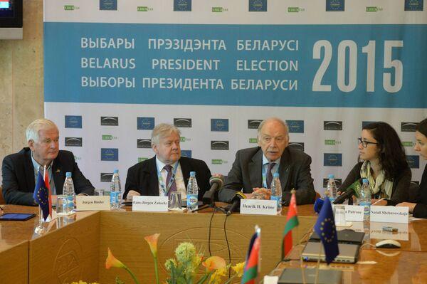 Аб'яднаная група еўрапейскіх палітыкаў пачала назіраць за выбарамі - Sputnik Беларусь