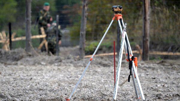 Работы по демаркации на стыке границ Беларуси, Украины и Польши - Sputnik Беларусь