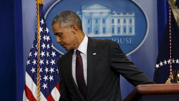 Выступление президента США Барака Обамы в Белом доме - Sputnik Беларусь