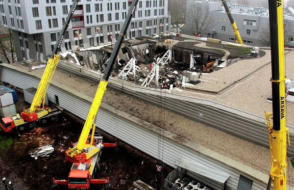 Обрушение крыши торгового центра в Риге - Sputnik Беларусь