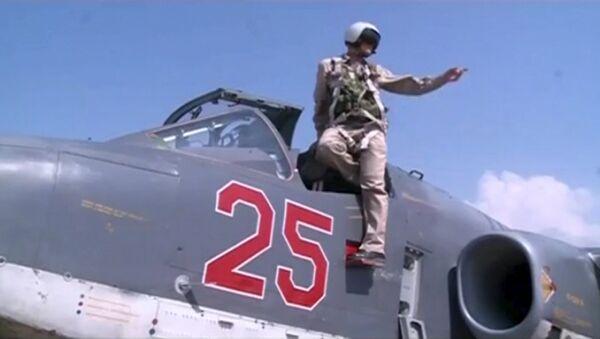 Российский самолет Су-25 в Сирии, архивное фото - Sputnik Беларусь